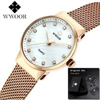 frauen armbanduhr marken großhandel-Top Marke Luxus Kleine Diamant Damen Handgelenk Charme Armband Uhren Für Frauen Montre Femme 2019 MX190720