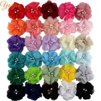 Wholesale shabby chic hair accessories for sale - Group buy accessories diy quot Chic Shabby Frayed Chiffon Fabric Flower Accessories DIY For Headbands Trendy Hair Clip Children Flores