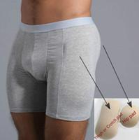 33f812c5e High Waist Men Butt Lifter Body Shaper Panties with 4 pockets   4 pcs spong  pads Butt Enhancer Underwear men cotton boxer CD 19
