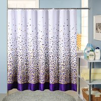 Wholesale white building blocks for sale - Group buy High Quality Spread Block Pattern Polyester Cloth Shower Curtain Bathroom Supplies Thick Waterproof Mildew Shower Curtain