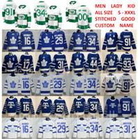 ingrosso foglia di acero bianco-San Pats Pattys Day Toronto Maple Leafs Auston Matthews Jersey John Tavares Hockey Mitchell Marner William Nylander Frederik Andersen White