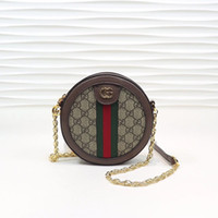 marcas de bolsos de buena calidad al por mayor-2019 el más nuevo mini estilo clásico marrón ophidia para mujer circular marca de moda de buena calidad bolsos de cuero casual de lujo bolsa de hombro