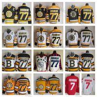 ingrosso annata c-2010 Winter Classic Boston Bruins # 77 Ray Bourque Jerseys Mens 75th Anniversary Top Quality Raymond Bourque Hockey Jersey Vintage C Patch