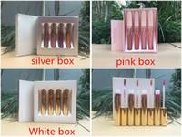 Wholesale brand makeup factory resale online - Factory Direct DHL New Makeup Lips Hot Brand Liquid Lipstick Matte Lip Gloss Set Set Pieces