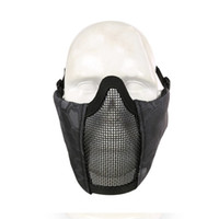 Wholesale steel mesh face mask resale online - Outdoor Half Face Lower Face Protective Mask Steel Net Mesh Mask Military Adjustable Riding Hunting Tactical Colors