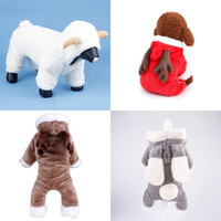 Wholesale leg jacket for sale - Cute Puppy Elk Christmas Outfit Winter Pet Thickening Four Legged Clothing Comfortable Dog Clothes New Style md Ww