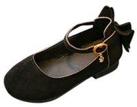 sandalet kolye toptan satış-Kızlar Için kızlar Sandalet Çocuk Çocuk Kız Katı Akın Kolye Prenses Kalın Topuk Tek Rahat Ayakkabılar