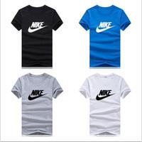 yarım yaka erkek gömlekleri toptan satış-Tasarımcı orijinal marka T-shirt erkekler ve kadınlar rahat spor için uygundur T-shirt moda yuvarlak yaka yarım kollu ruh gömlek tee