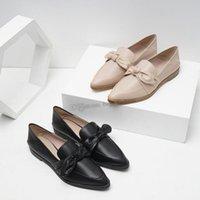 бесплатная доставка обувь корея оптовых-Женщины Квартиры Весна Женская обувь Soft Toe Flats Остроконечные женщин Летние Slip-onShoes Корея StyleBalletFlats Doug обувь Бесплатная доставка