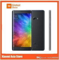 qhd bildschirm smartphone großhandel-Xiaomi Mi Note 2 64-Bit-Quad-Core-4G-LTE-Touch-ID 22MP Kamera-RAM 6 GB ROM 128 GB 5,7 Zoll gebogener Bildschirm 1080P FHD