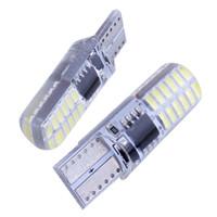 Wholesale gels lights for sale - Group buy 10pcs T10 W5W led strobe flash silicone gel light LED LED blink Light Bulb Clearance Lights V model Lights