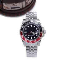 relógios mens venda por atacado-Novo relógio de luxo 40mm Sapphire Relógios de Pulso automáticos mecânicos mens relógios em aço inoxidável relógio cadeia 4 cores