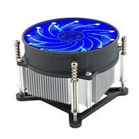 ventilador de 12v para enfriamiento. al por mayor-Silencioso de la CPU del ordenador hidráulico del refrigerador del ventilador para Intel 115X AMD 3 pines 12V LED
