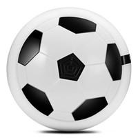 флеш игры оптовых-Светодиод мигает воздушной энергии футбольный диск светодиодные фонари электрические скольжения плавающий футбол крытый игры на свежем воздухе детские игрушки спорт