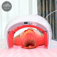 pdt-lampen großhandel-Tamax PDT LED Photon Lichttherapie Lampe Gesichts Körper Schönheit SPA PDT Maske Haut straffen Akne Falten Entferner Gerät Salon Schönheit Ausrüstung