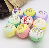 flower 100g Bath Salts Ball Organic Bath Bombs Bubble Essential Oil Handmade SPA Stress Relief Exfoliating Mint Lavender Rose Flavor CZ128