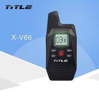 jambon telsiz portatif telsiz toptan satış-USB Güç Kaynağı Kulaklıklar ile KSUN X-V66TFSI Mini Taşınabilir Walkie Talkie Ham İki Yönlü Radyo Telsiz UHF 400-480MHz