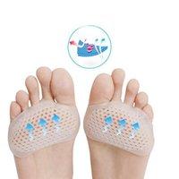 ayak minder yastığı toptan satış-Jel Ayak Ayırıcı Bunyon Bunları Atel Arı Kovanı Şekilli Forefeet Kol Yastıkları Ayak Ağrı kesici Ayak Bakımı için Metatarsal Pedleri