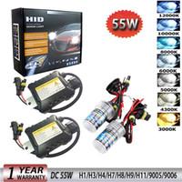 Wholesale hid xenon kit 55w h1 resale online - 55W V Xenon Light Bulb Car Headlight H1 H3 H7 H11 k k k k HID Slim Ballast Xenon Headlamp Kit