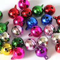 Wholesale christmas jingle bell charms resale online - Hot Fairy Multicolor Iron Beads Jingle Bells Pendants Charms mm Craft new Xmas