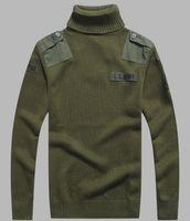 ingrosso maglioni militari per gli uomini-Mens US Army Maglione Patch design tattico esercito maglia maglioni Highneck autunno inverno casual spessa pullover uomini