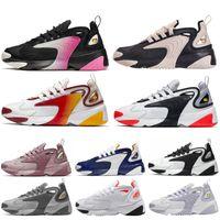 новейшие ботинки оптовых-Nike ZOOM 2K Дешевые Original 2017 Run Running Shoes Женщины и мужчины черный белый Runings Runing обуви Спортивный Открытый кроссовки один размер 36-45