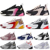 chaussures de course uniques achat en gros de-Nike ZOOM 2K Pas cher Original 2017 Course Chaussures De Course Femmes et Hommes noir blanc Runings Chaussure De Course Athlétique En Plein Air Baskets Taille Unique 36-45