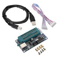 programadores usb al por mayor-K150 PIC Programmer Downloader USB PIC KIT 2 3 Componente electrónico duradero XJ66