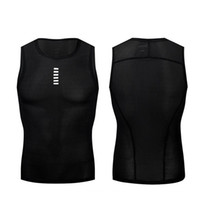 Wholesale wholesale camping clothing online - Running Vest Summer Male Short Sleeve Riding T Shirts Sleeveless Clothes Black White Breathable Quick Drying xf C1