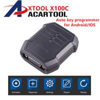 lecteur de code pin pour ford achat en gros de-X100C Auto clé programmeur pour Ford / Mazda pour 4 en 1 lecteur de code PIN XTOOL X100 C pour Android IOS