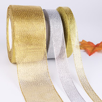 Wholesale decorating boxes for sale - Group buy Printing Webbing Gift Box Packing Bow Decorate Silk Ribbon Golden Silver Onion Thread Tape Factory Direct Selling dd7 p1
