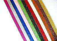 ingrosso cavo in pelle 8mm-Commercio all'ingrosso 8mm Glitter Bling in pelle 1 m Corde Cinghie di corda per 8mm Charms diapositiva Accessori gioielli fai da te Catene chiave Fare materiale
