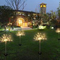 açık su geçirmez güneş ışığı ip toptan satış-Güneş Fireworks Işıkları 120 LED Dize Lambası Su Geçirmez Açık Bahçe Aydınlatma Çim Lambaları Noel Süslemeleri ışıkları Yeni GGA2520