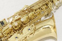 Wholesale alto saxophone accessories resale online - YANAGISAWA A Alto Saxophone Brass Eb Tune E Flat Musical Instrument Gold Lacquer Saxophone with Case Accessories