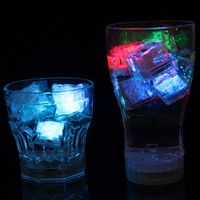 Wholesale led ce cubes for sale - Group buy Polycherome flash ice cube flash colors light up lead ice cube for drink white Novelty Night Light LED Party Lights Rock for bar club pub