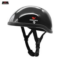Wholesale black blue motorbike helmets resale online - WOSAWE Motorcycle Helmet Half Face Protective Helmet Portable Men Women Motorbike visor Safety Hat