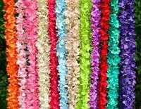 поздравительные открытки оптовых-200 см длинные искусственные глицинии цветок лозы шелк гортензия ротанга DIY свадьба день рождения украшения стены фон цветы