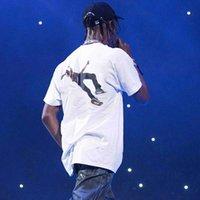 algodão scott venda por atacado-19SS Verão Travis Scott T-shirt de Algodão Rua Hip Hop Mangas Curtas Moda Casual Simples Homens Mulheres Cor Sólida Tee Respirável HFYMTX497