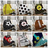 Wholesale sports bars resale online - Baseball Blankets Softball Soccer Football Blanket D Printed Swaddling Towel Sports Carpet Sofa Bedding Sheet Towel NEW GGA1851