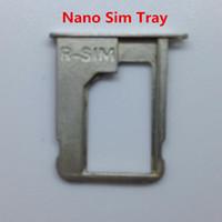 nano bandeja 4s al por mayor-Bandeja de la tarjeta sim nano para iPhone 4S soporte de bandeja sim Reemplazo del accesorio original antiguo Sim