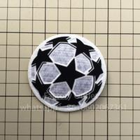 parche de fútbol soccer al por mayor-Campeones liga pelota parche fútbol Imprimir parches insignias, Fútbol Estampado caliente Insignias parche