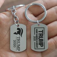 вешалка для сувениров оптовых-Trump 2020 брелок Tag Keep America Great подвеска брелок Key Ring Fans Сувениры Подарочные брелок ювелирные аксессуары MMA1716-1