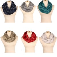Wholesale music shawl resale online - Voile Infinity Scarf Circle Loop Cowl Music Scarves Women Fashion Viscose Shawl Summer Lady Wraps Beach Ring HeadScarf TTA1750