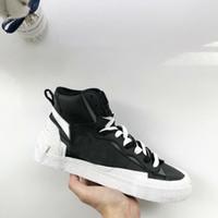 leyenda de la nave al por mayor-2019 Sacai X Blazer Mid High White Black Legend Blue con The Dunk Snow Beach zapatillas Casual envío gratis