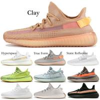 reputable site 01bda d3236 Adidas Yeezy Boost 350 v2 Shoes Clay V2 Scarpe da corsa True Form  Hyperspace Static Reflective Oreo CREAM Sesame BELUGA Copper Uomo Donne  Designer Sport ...