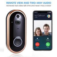 ingrosso telecamere a campana per porte interne-Campanello per porta video citofono con citofono intelligente WIFI 1080P con telecamera per ingresso a infrarossi allarme per porta senza fili