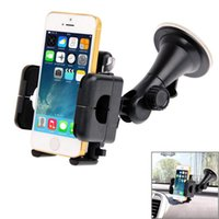 Wholesale iphone car suction for sale - Group buy Universal Degree Rotation Suction Cup Car Holder Desktop Stand For iPhone Galaxy Sony Lenovo HTC Huawei and other Smartphones o