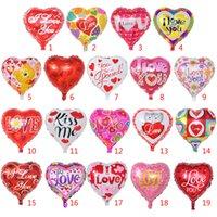 balões infláveis do elogio venda por atacado-Novo Dia dos Namorados amor coração Balão Impresso Balões de Casamento Festival Festa Suprimentos Decoração Casamento Eu TE AMO Balões Metálicos