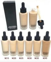 Wholesale dark liquid foundation resale online - Brand Good Quality Face Studio Waterweight SPF Foundation Fond de Teint ML Matchmaster Liquid Foundation Colors