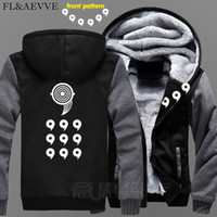 4xl anime hoodie großhandel-FLAEVVE Neue Uzumaki Naruto Hoodie Anime Uchiha Sasuke Mantel Jacke Winter Männer Dicker Reißverschluss Ootutuki Hagoromo Sweatshirt